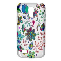 Prismatic Psychedelic Floral Heart Background Galaxy S4 Mini