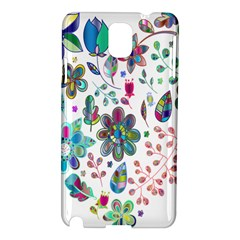 Prismatic Psychedelic Floral Heart Background Samsung Galaxy Note 3 N9005 Hardshell Case