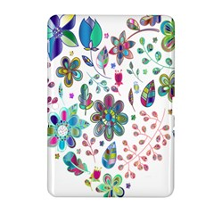 Prismatic Psychedelic Floral Heart Background Samsung Galaxy Tab 2 (10 1 ) P5100 Hardshell Case