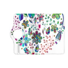 Prismatic Psychedelic Floral Heart Background Kindle Fire Hd (2013) Flip 360 Case