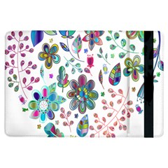 Prismatic Psychedelic Floral Heart Background Ipad Air Flip