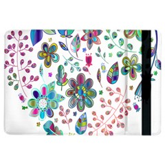 Prismatic Psychedelic Floral Heart Background Ipad Air 2 Flip