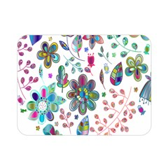 Prismatic Psychedelic Floral Heart Background Double Sided Flano Blanket (mini)
