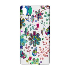 Prismatic Psychedelic Floral Heart Background Sony Xperia Z3+
