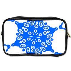 Snowflake Art Blue Cool Polka Dots Toiletries Bags