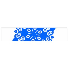 Snowflake Art Blue Cool Polka Dots Flano Scarf (small)