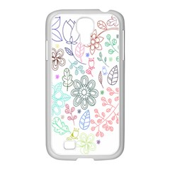 Prismatic Neon Floral Heart Love Valentine Flourish Rainbow Samsung Galaxy S4 I9500/ I9505 Case (white)