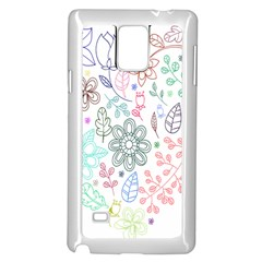 Prismatic Neon Floral Heart Love Valentine Flourish Rainbow Samsung Galaxy Note 4 Case (white)