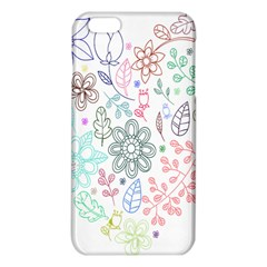 Prismatic Neon Floral Heart Love Valentine Flourish Rainbow Iphone 6 Plus/6s Plus Tpu Case