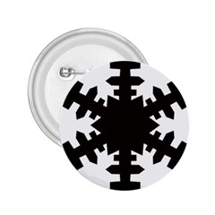 Snowflakes Black 2 25  Buttons