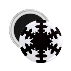 Snowflakes Black 2 25  Magnets