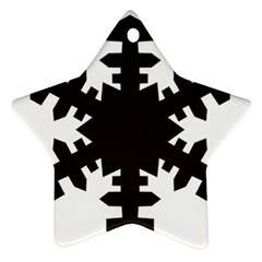 Snowflakes Black Ornament (star)