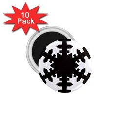 Snowflakes Black 1 75  Magnets (10 Pack)