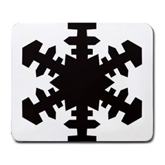 Snowflakes Black Large Mousepads
