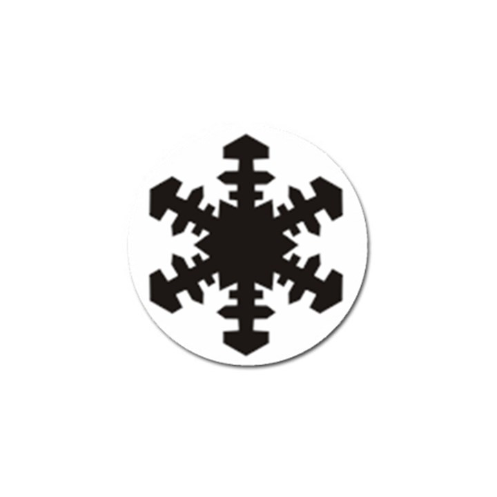 Snowflakes Black Golf Ball Marker