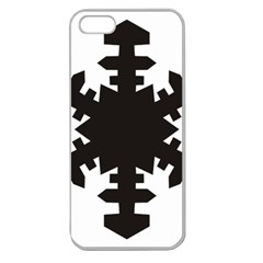 Snowflakes Black Apple Seamless Iphone 5 Case (clear)