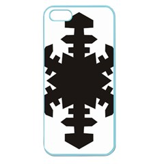 Snowflakes Black Apple Seamless Iphone 5 Case (color)
