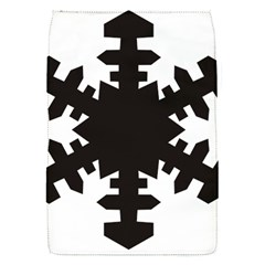 Snowflakes Black Flap Covers (s)