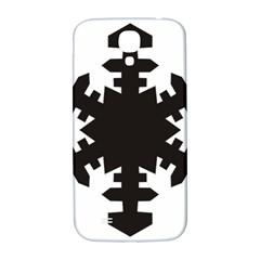Snowflakes Black Samsung Galaxy S4 I9500/i9505  Hardshell Back Case