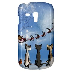 Christmas, Cute Cats Looking In The Sky To Santa Claus Galaxy S3 Mini