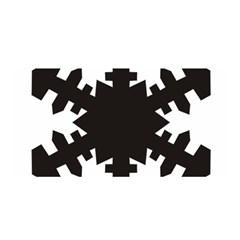 Snowflakes Black Satin Wrap