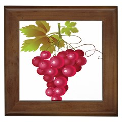 Red Fruit Grape Framed Tiles