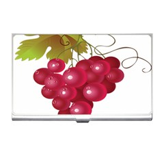 Red Fruit Grape Business Card Holders