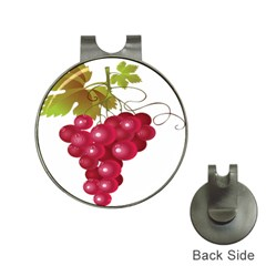 Red Fruit Grape Hat Clips With Golf Markers