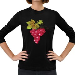Red Fruit Grape Women s Long Sleeve Dark T Shirts