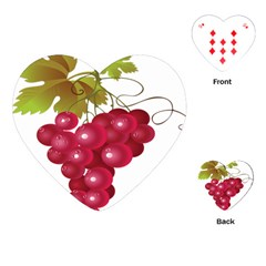 Red Fruit Grape Playing Cards (heart)