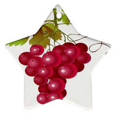 Red Fruit Grape Star Ornament (two Sides)