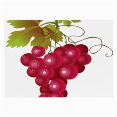 Red Fruit Grape Large Glasses Cloth