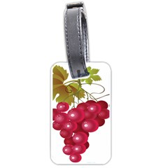 Red Fruit Grape Luggage Tags (one Side)