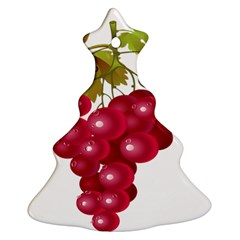 Red Fruit Grape Christmas Tree Ornament (two Sides)