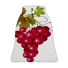 Red Fruit Grape Bell Ornament (two Sides)