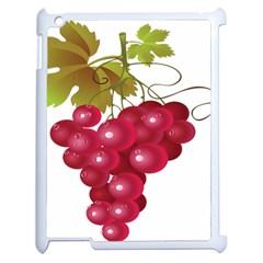 Red Fruit Grape Apple Ipad 2 Case (white)