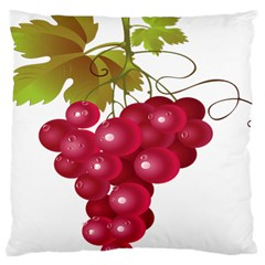 Red Fruit Grape Large Cushion Case (two Sides)