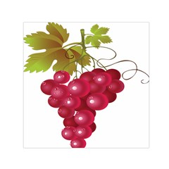 Red Fruit Grape Small Satin Scarf (square)