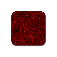 Simulation Red Water Waves Light Rubber Square Coaster (4 Pack)