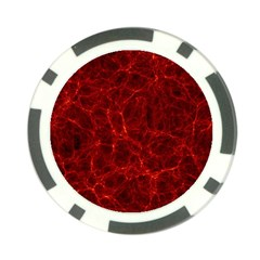 Simulation Red Water Waves Light Poker Chip Card Guard