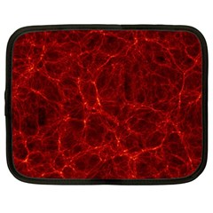 Simulation Red Water Waves Light Netbook Case (xxl)