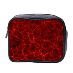 Simulation Red Water Waves Light Mini Toiletries Bag 2 Side