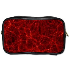 Simulation Red Water Waves Light Toiletries Bags