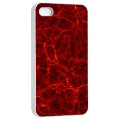 Simulation Red Water Waves Light Apple Iphone 4/4s Seamless Case (white)