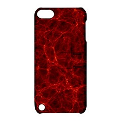 Simulation Red Water Waves Light Apple Ipod Touch 5 Hardshell Case With Stand