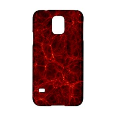 Simulation Red Water Waves Light Samsung Galaxy S5 Hardshell Case