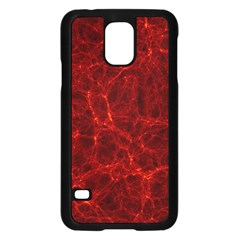 Simulation Red Water Waves Light Samsung Galaxy S5 Case (black)
