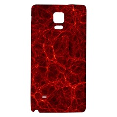 Simulation Red Water Waves Light Galaxy Note 4 Back Case