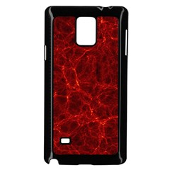 Simulation Red Water Waves Light Samsung Galaxy Note 4 Case (black)