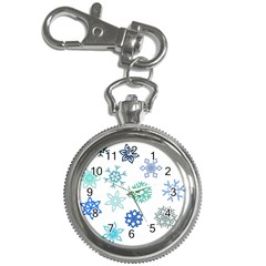 Snowflakes Blue Green Star Key Chain Watches